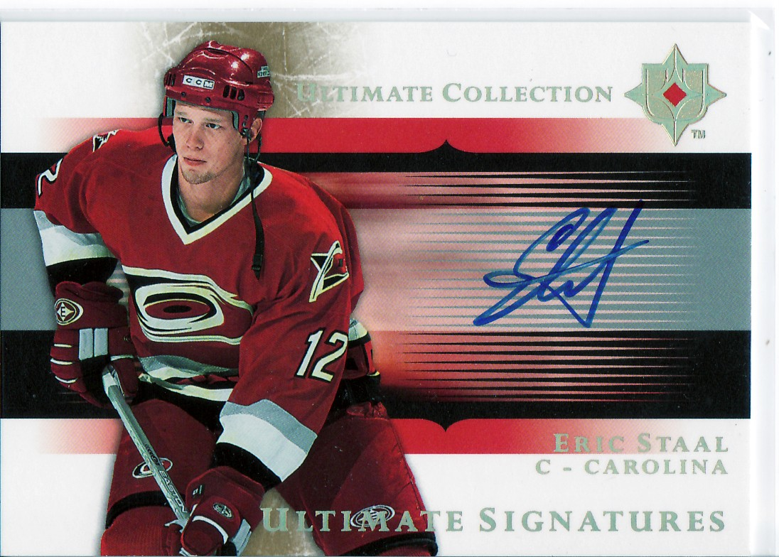 2005-06 Ultimate Collection Ultimate Signatures #USES Eric Staal EXCH
