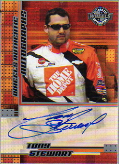 2004 Wheels Autographs #63 Tony Stewart AT