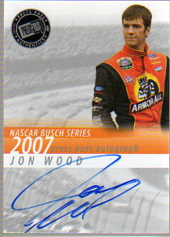 2007 Press Pass Autographs #48 Jon Wood NBS P