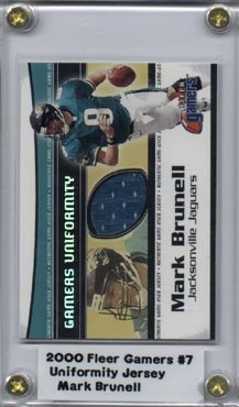 2000 Fleer Gamers Uniformity #7 Mark Brunell