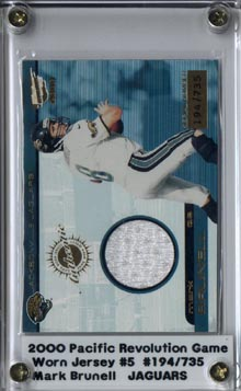 2000 Revolution Game Worn Jerseys #5 Mark Brunell/735*