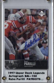 1997 Upper Deck Legends Autographs #AL152 Babe Parilli