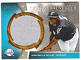 2006 Sweet Spot Super Sweet Swatch #DW Dontrelle Willis Jsy/299