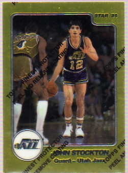 1996-97 Topps Finest Reprints #43 John Stockton