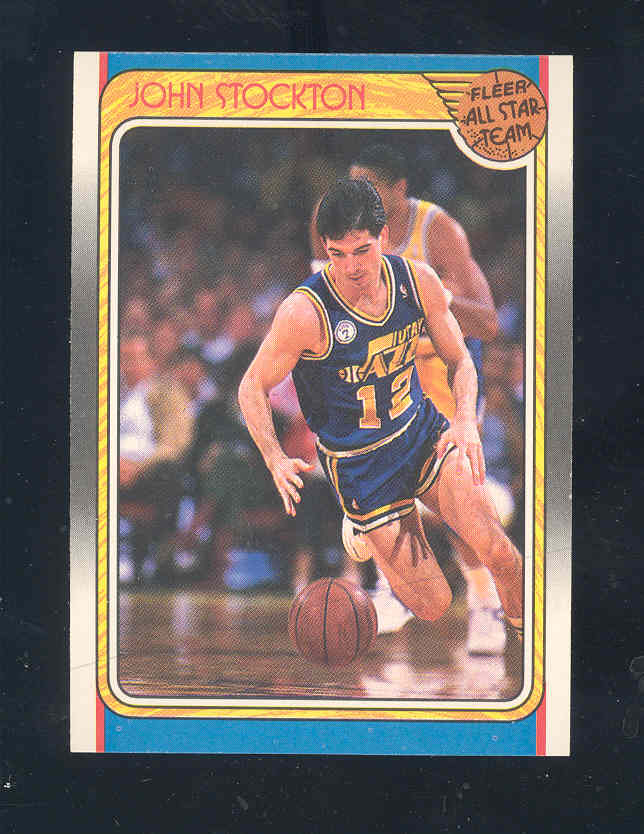 1988-89 Fleer #127 John Stockton AS