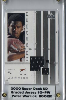 2000 UD Graded Jerseys #GPW Peter Warrick