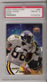 1998 Topps Stars Gold #66 Randy Moss ROOKIE PSA Nm-Mt 8 #1492/1999 NICE!!