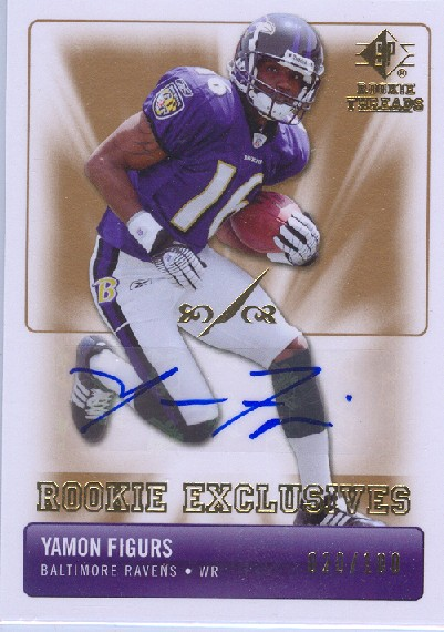 2007 SP Rookie Threads Rookie Exclusive Autographs #REYF Yamon Figurs 