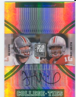 2007 Donruss Elite College Ties Autographs #12 A.J. Hawk/Troy Smith AU/25