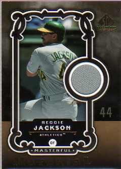 2007 SP Legendary Cuts Masterful Materials #RJ Reggie Jackson