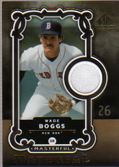 2007 SP Legendary Cuts Masterful Materials #WB Wade Boggs