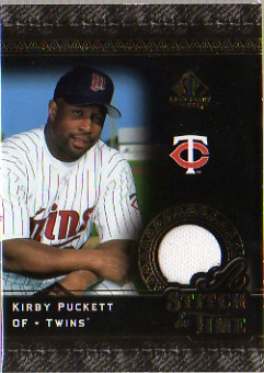 2007 SP Legendary Cuts A Stitch in Time Memorabilia #KP Kirby Puckett