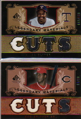 2007 SP Legendary Cuts Legendary Materials Triple #KG Ken Griffey Sr./99