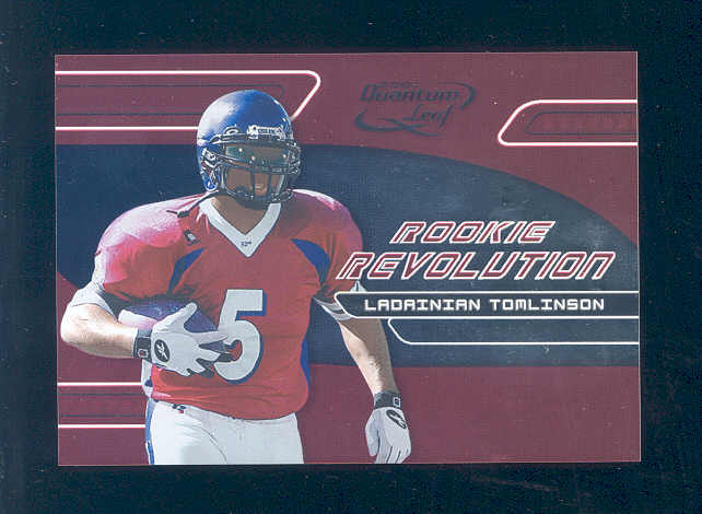 2001 Quantum Leaf Rookie Revolution #RR9 LaDainian Tomlinson