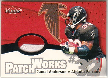 2000 Fleer Tradition Patchworks #3 Jamal Anderson