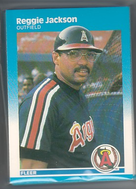 1987 Fleer Angels Team Set Reggie Jackson  20+ Cards