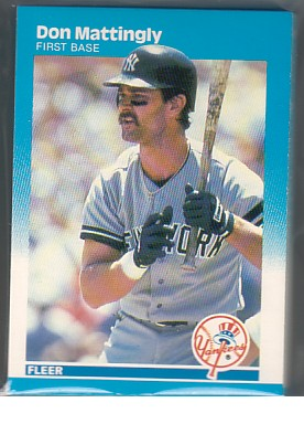 1987 Fleer Yankees Team Set MATTINGLY 20+ Cards