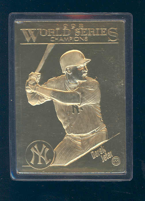 1998 Player Choice World Series Champs Gold #18 Derek Jeter Yankees