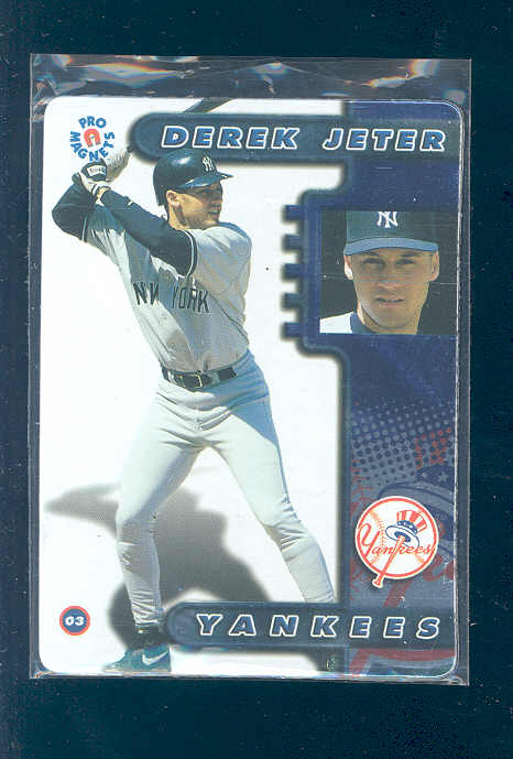 1998 Pro Magnets Derek Jeter Yankees Magnet Card Very Nice Gift RARE