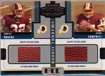 2005 Playoff Honors Rookie Tandem Footballs #RT9 Charles Rogers/Jason Campbell