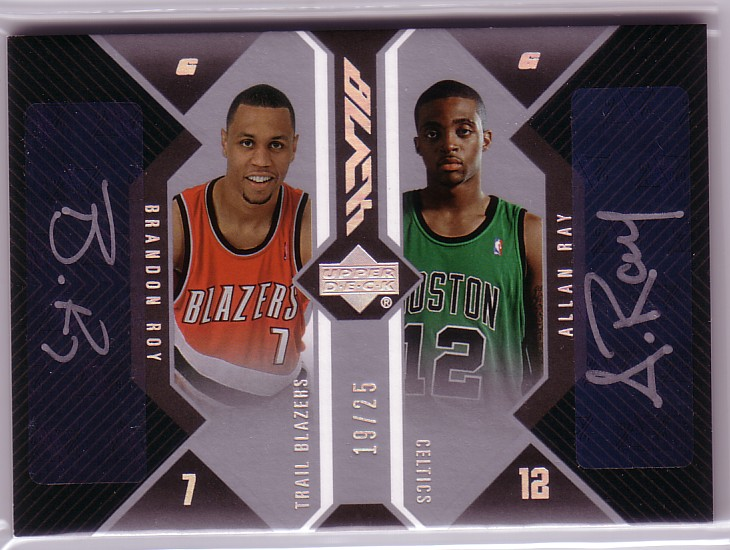 2006-07 UD Black Autographs Dual #RR Brandon Roy/Allan Ray