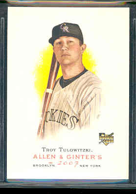 2007 Topps Allen and Ginter #75 Troy Tulowitzki (RC)
