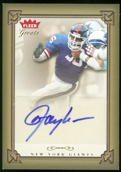 2004 Greats of the Game Gold Border Autographs #LT Lawrence Taylor SP