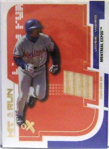 2002 E-X Hit and Run Game Bat #18 Jose Vidro