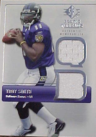 2007 SP Rookie Threads Rookie Threads Silver #RTTS Troy Smith 