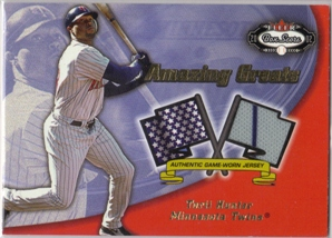 2002 Fleer Box Score Amazing Greats Single Swatch #6 Torii Hunter