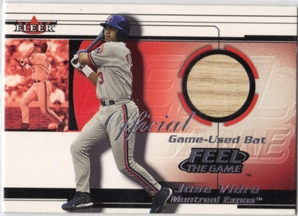 2001 Fleer Feel the Game #26 Jose Vidro