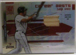 2003 Donruss Elite Career Bests Materials #11 Lance Berkman RBI Bat