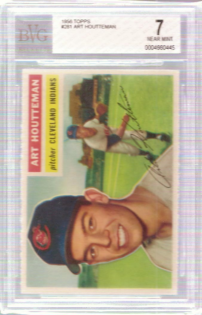 1956 Topps #281 Art Houtteman BVG 7 Near Mint