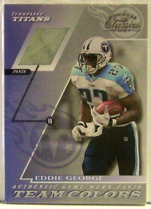 2001 Donruss Classics Team Colors #TC15 Eddie George Pants