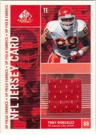2003 SP Game Used Edition Field Fabrics #TG Tony Gonzalez