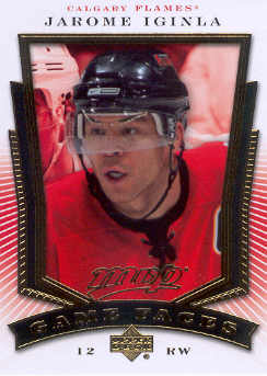 2007-08 Upper Deck MVP Game Faces #GF3 Jarome Iginla