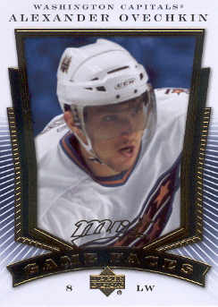 2007-08 Upper Deck MVP Game Faces #GF7 Alexander Ovechkin