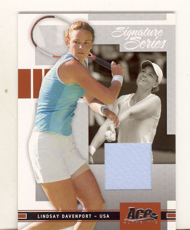 2005  Ace Authentic, Signature Series Jersey  Lindsay Davenport  #2,  #086/500,