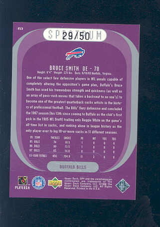 1998 SPx Finite Spectrum #153 Bruce Smith PE