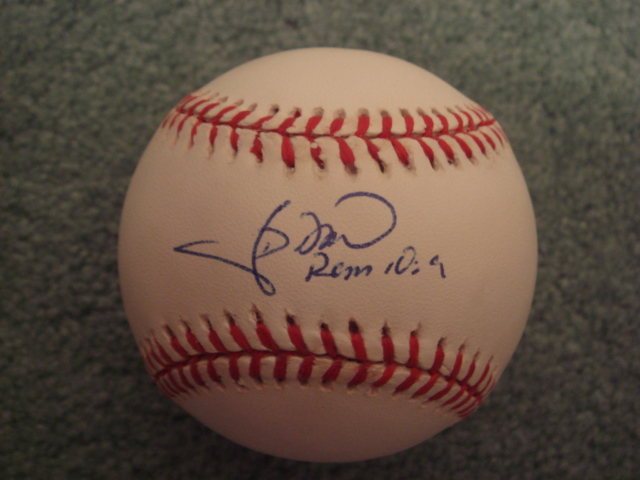 J. D. Drew Autographed official NL Baseball With COA