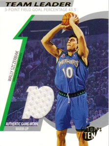 2002-03 Topps Ten Team Leader Relics #TLWS Wally Szczerbiak/1500