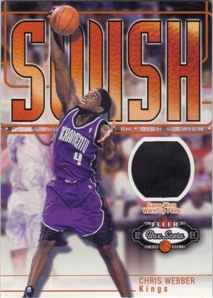 2002-03 Fleer Box Score Dish and Swish Memorabilia #DSM10 Chris Webber Pants