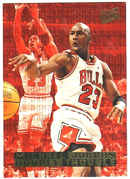 1995-96 Ultra Double Trouble #3 Michael Jordan