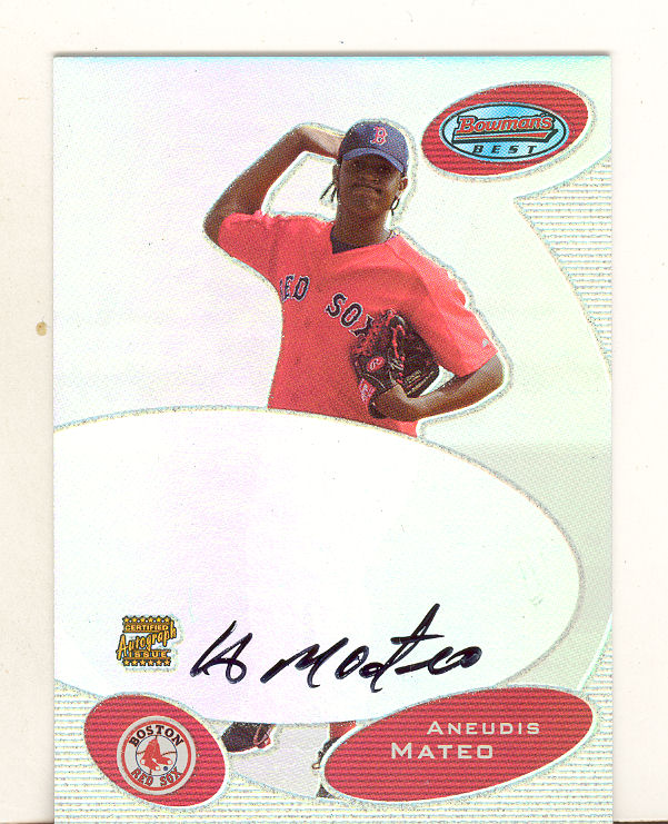 2003 Bowman's Best Red #AM Aneudis Mateo FY AU