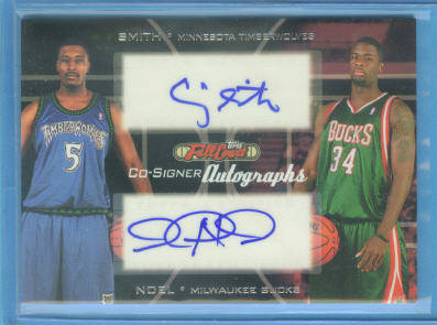 2006-07 Topps Full Court Co-Signers #CS42 Craig Smith/David Noel