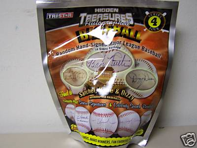6 BALL BOX : Tristar Hidden Treasures Series 4 Autographed Baseballs (Autographed Baseball in a Bag) (Possible Babe Ruth, Ty Cobb & Cy Young Autographed Balls)