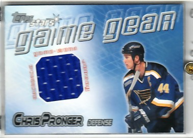 2000-01 Topps Stars Game Gear #GGCP Chris Pronger J