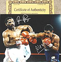 Alexis Arguello vs. Aaron Pryor championship fight 10x8 autographed ( signed ) by both