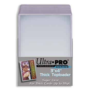 CASE OF 1000 : Ultra-Pro 3x4 Top Loader For Thick Cards (Holds Cards up to 55 point in thickness) (40 Packs with 25 Per Pack) (Stock #81181)