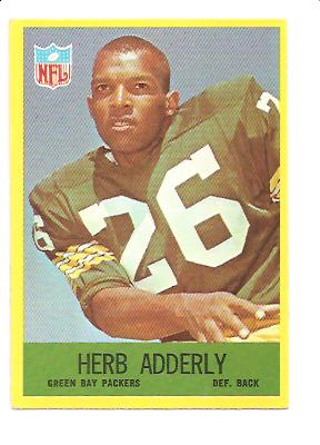 1967 Philadelphia #74 Herb Adderley UER